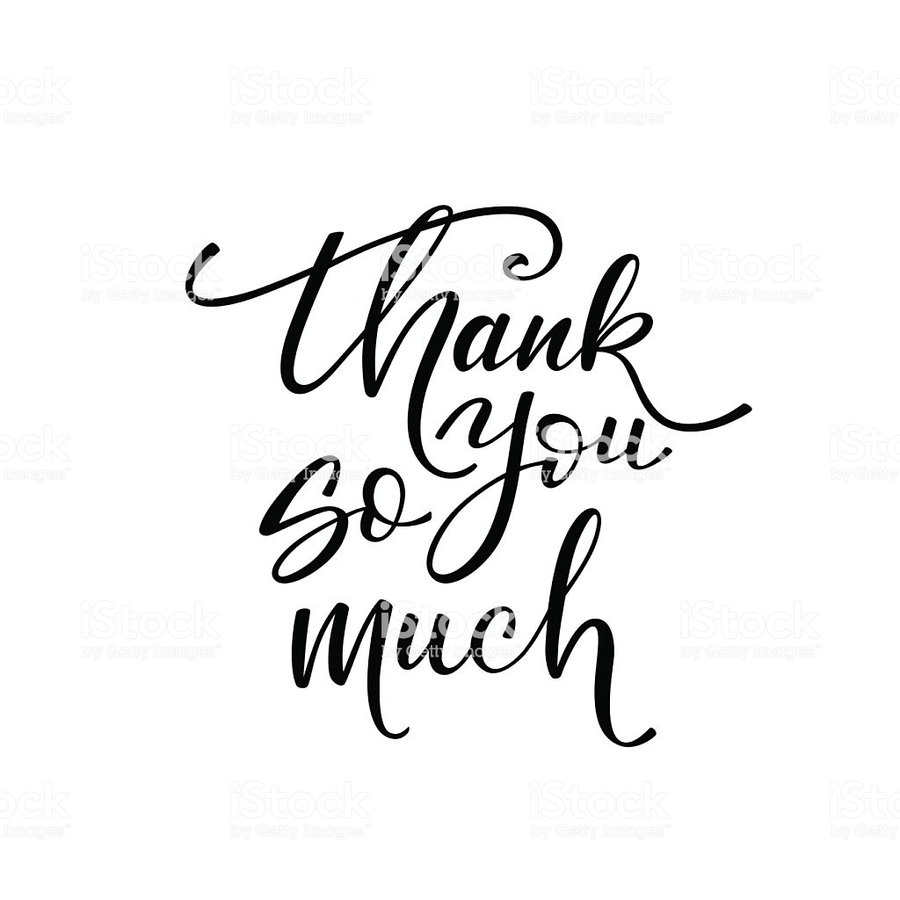 Download thank you so much png clipart Royalty.