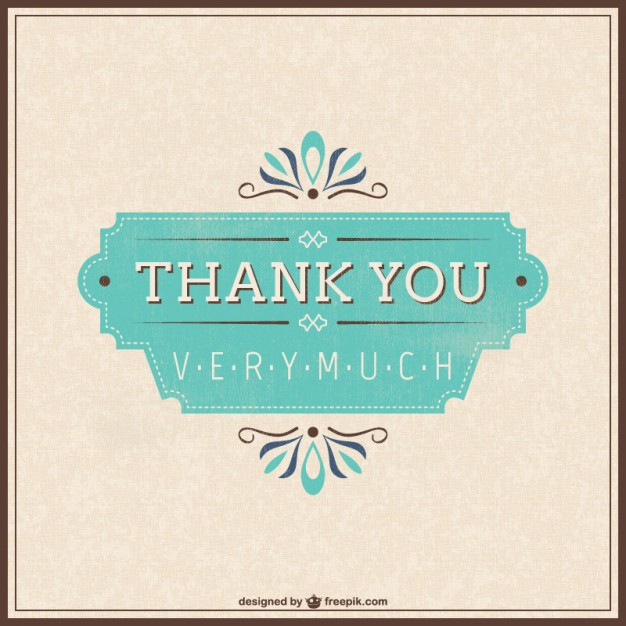 20+ Thank You Card Template Vectors.