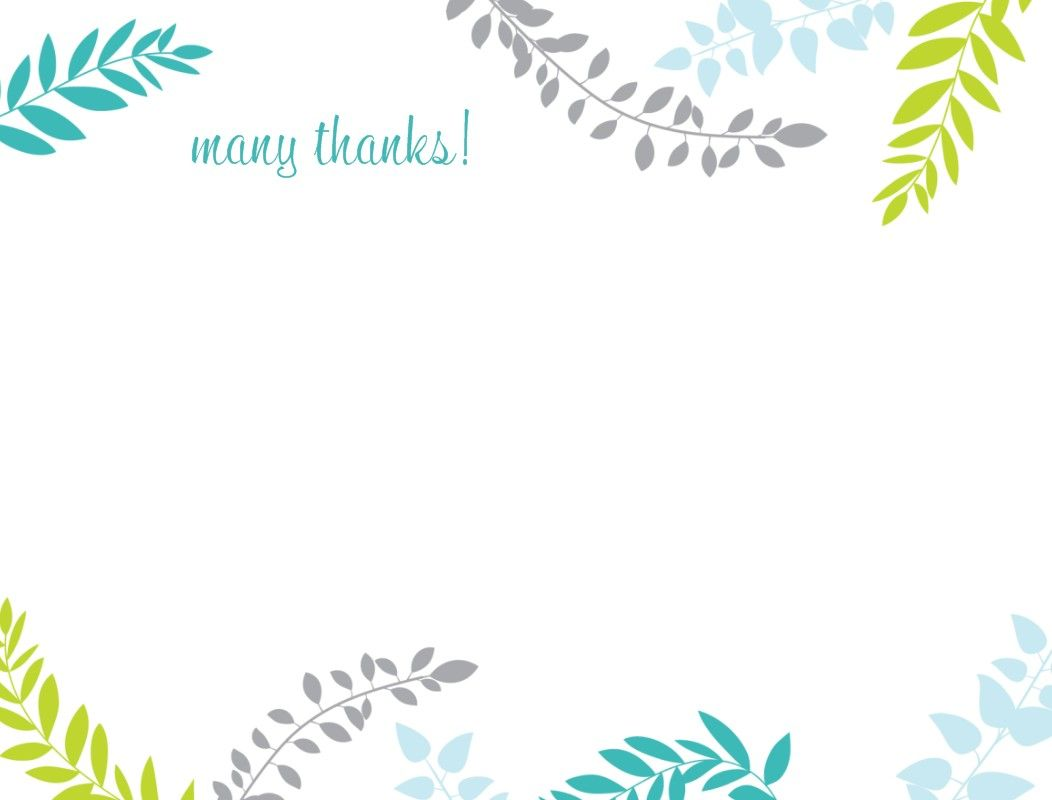 Printable Thank You Card Template.