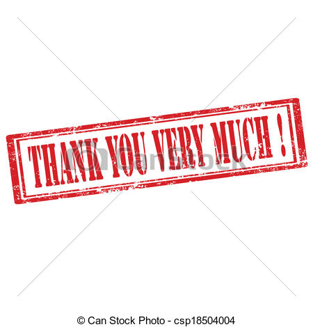 Vector Clipart of Thank You Very Much.