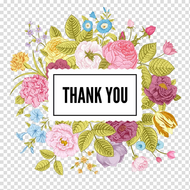 Multicolored thank you , Wedding invitation Flower Floral.