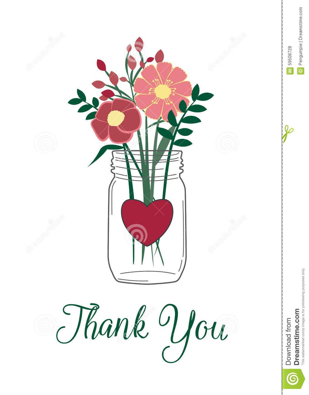 Thank You Bouquet Clipart.