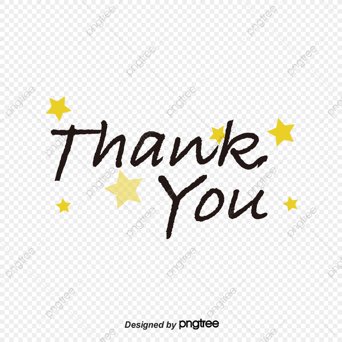 Handwriting Thank You Word For Art, Art Clipart, Vector Png.