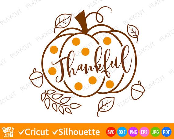 Thankful Pumpkin Svg Thanksgiving Fall svg Svg Autumn.