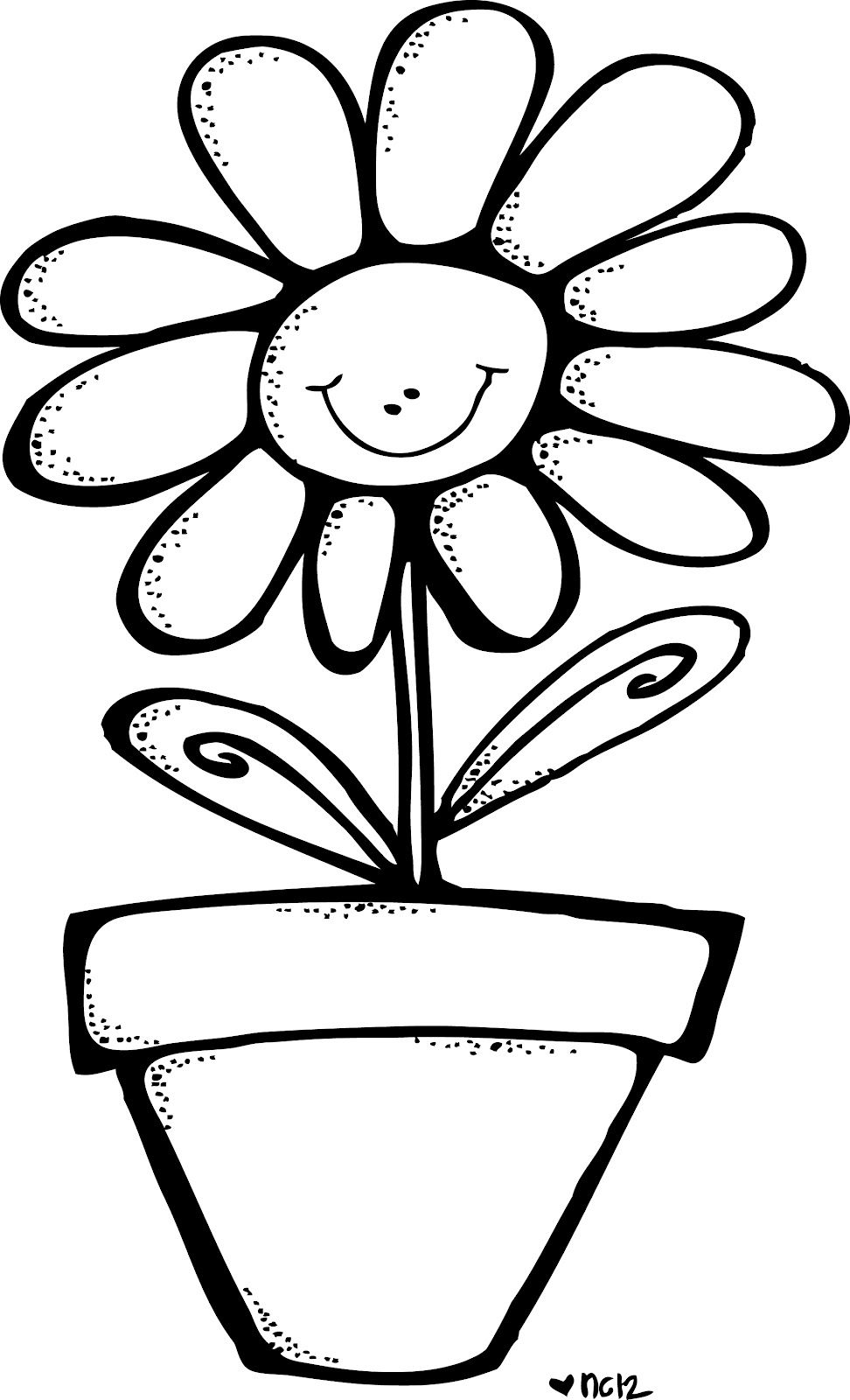 smiling flower in pot.