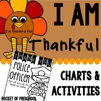 I Am Thankful Activities for Preschool, Pre.