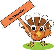 Thankful Turkey Clipart.