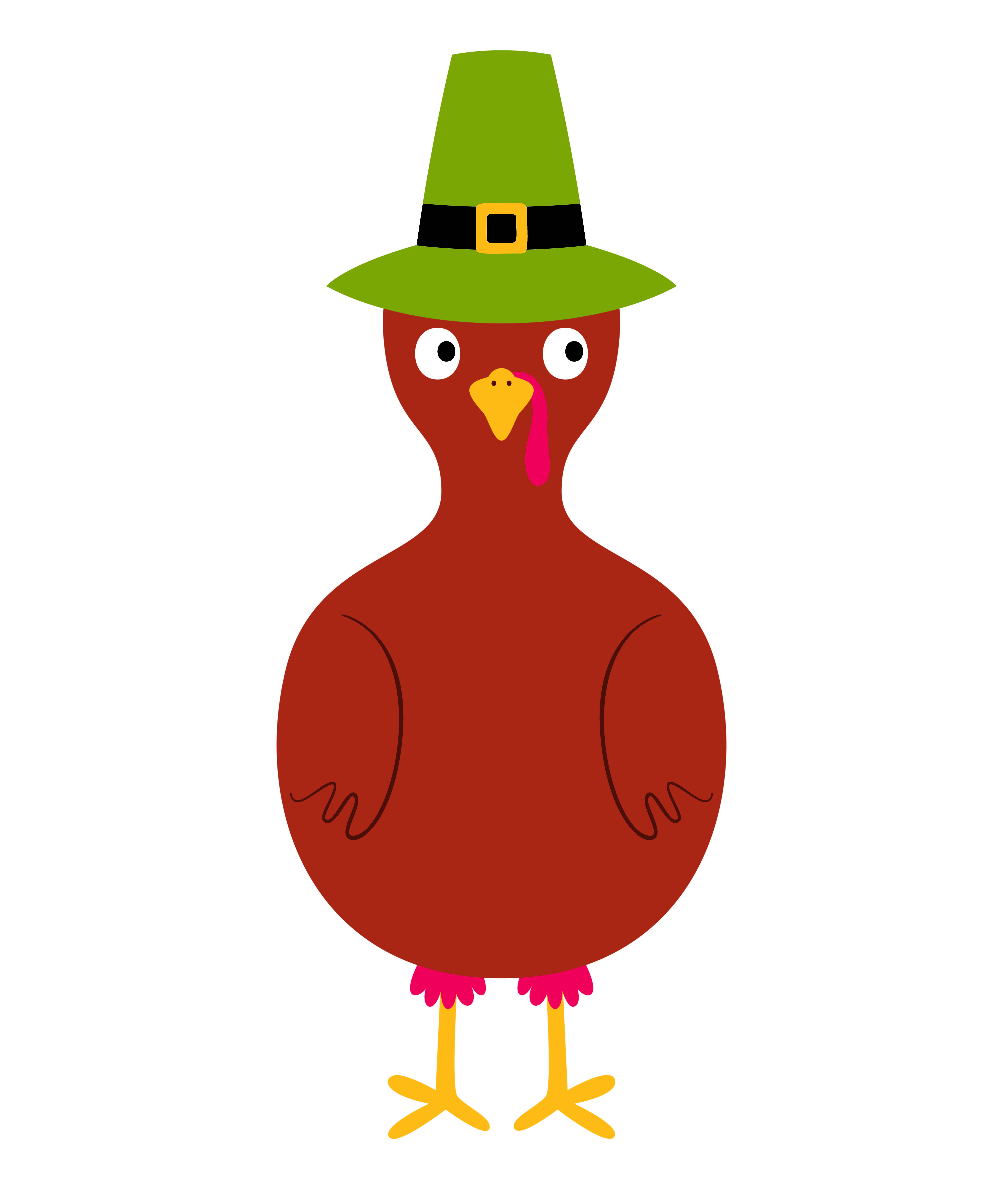 Thankful Turkey Free Printable with Feathers.