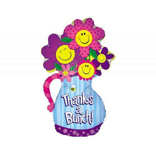 Thanks A Bunch Flowers Foil Balloon 37inch.