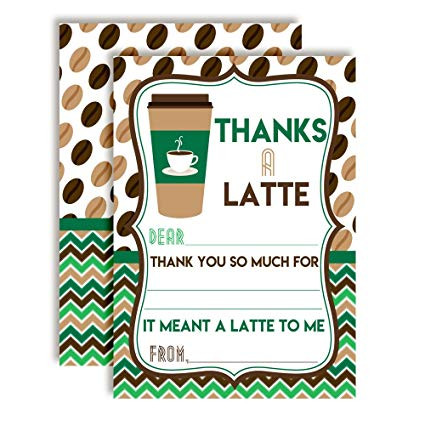 Amazon.com : Thanks A Latte Green and Brown Coffee Themed.