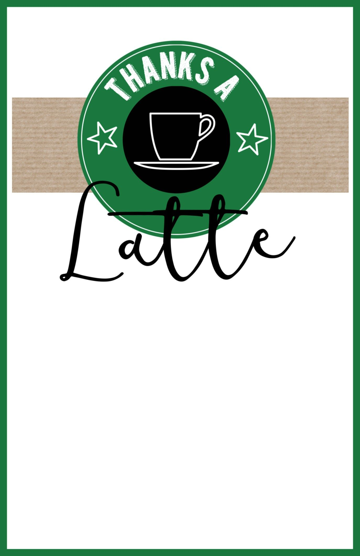 Starbucks Teacher Thank You Printable.