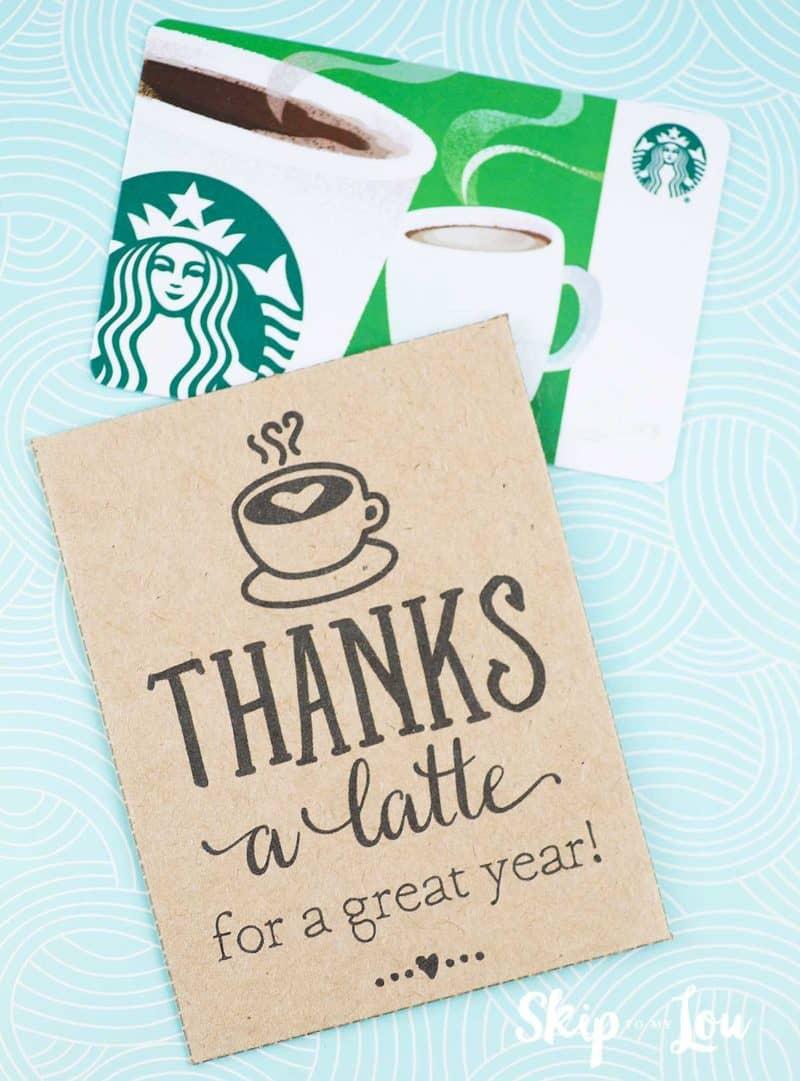 Thanks a latte! FREE Printable Gift Tags.