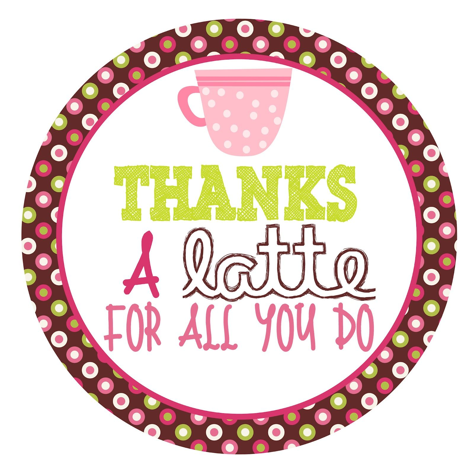 free printable tag for coffee gift card.
