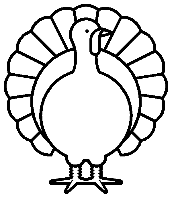 Best Turkey Clipart Black And White #1497.
