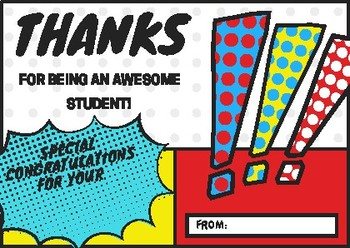 Thanks for being an awesome student! by michy eh.