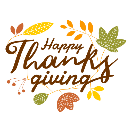 Happy thanksgiving logo.