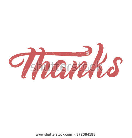Thanks Handlettering Congratulations Thank You Modern Stock Vector.