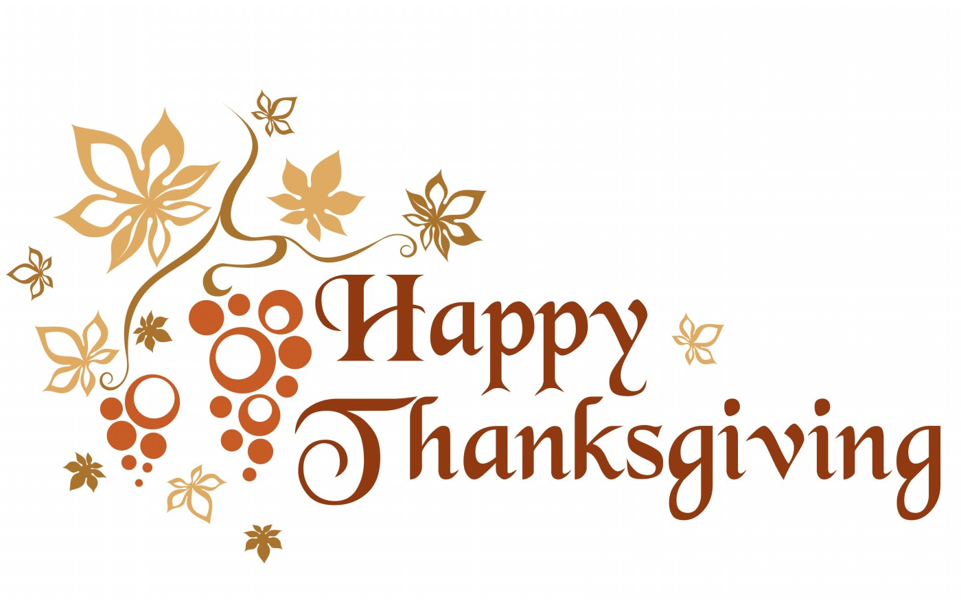 Happy Thanksgiving Words For Kids Clipart.