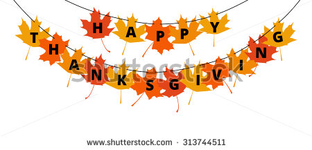 Happy Thanksgiving Clipart Banner.