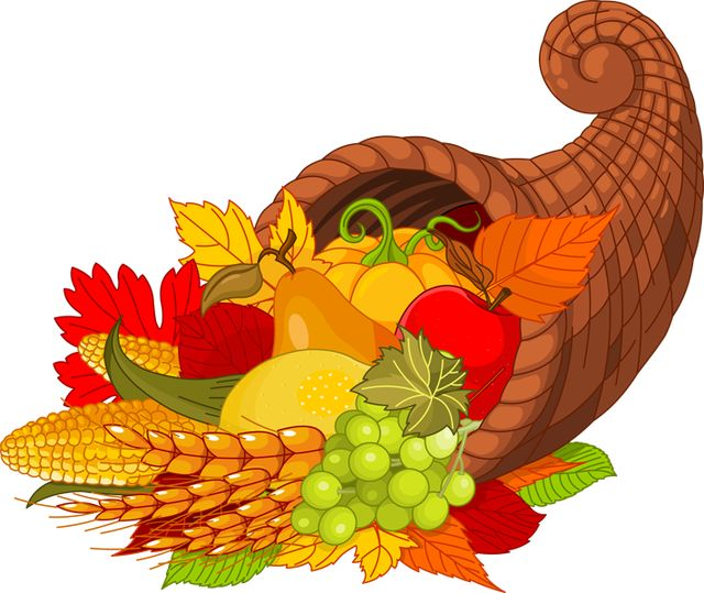 Thanksgiving harvest basket clipart clipartxtras.