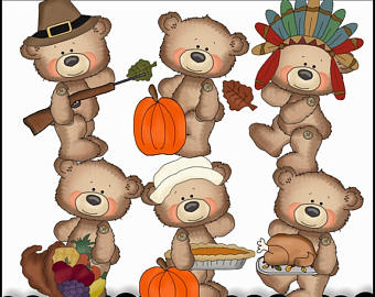 Thanksgiving Bear Cliparts 8.