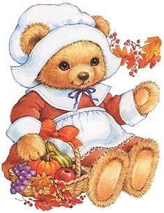 Thanksgiving Bear Cliparts 7.