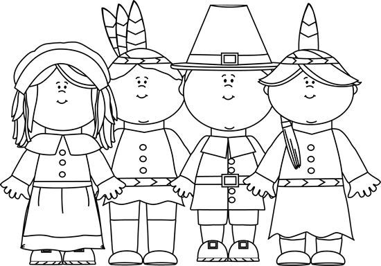 Thanksgiving Clipart Black and White.