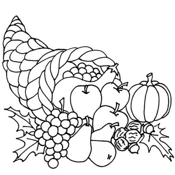 63+ Thanksgiving Clip Art Black And White.