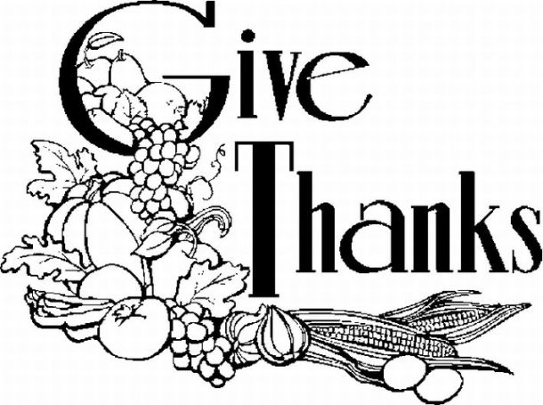 83+ Black And White Thanksgiving Clipart.