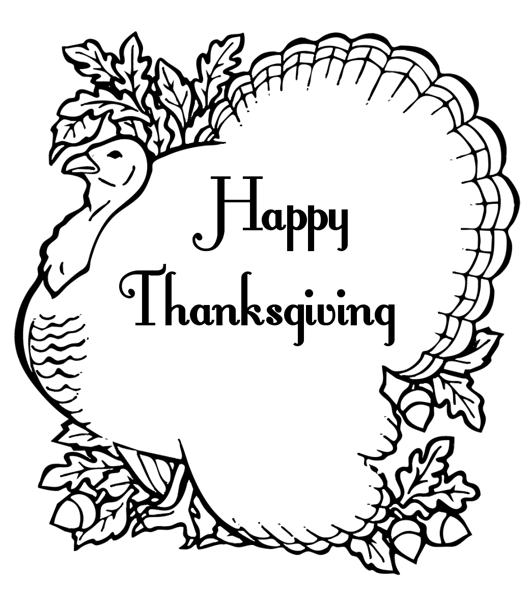 Black And White Thanksgiving Clipart Free.