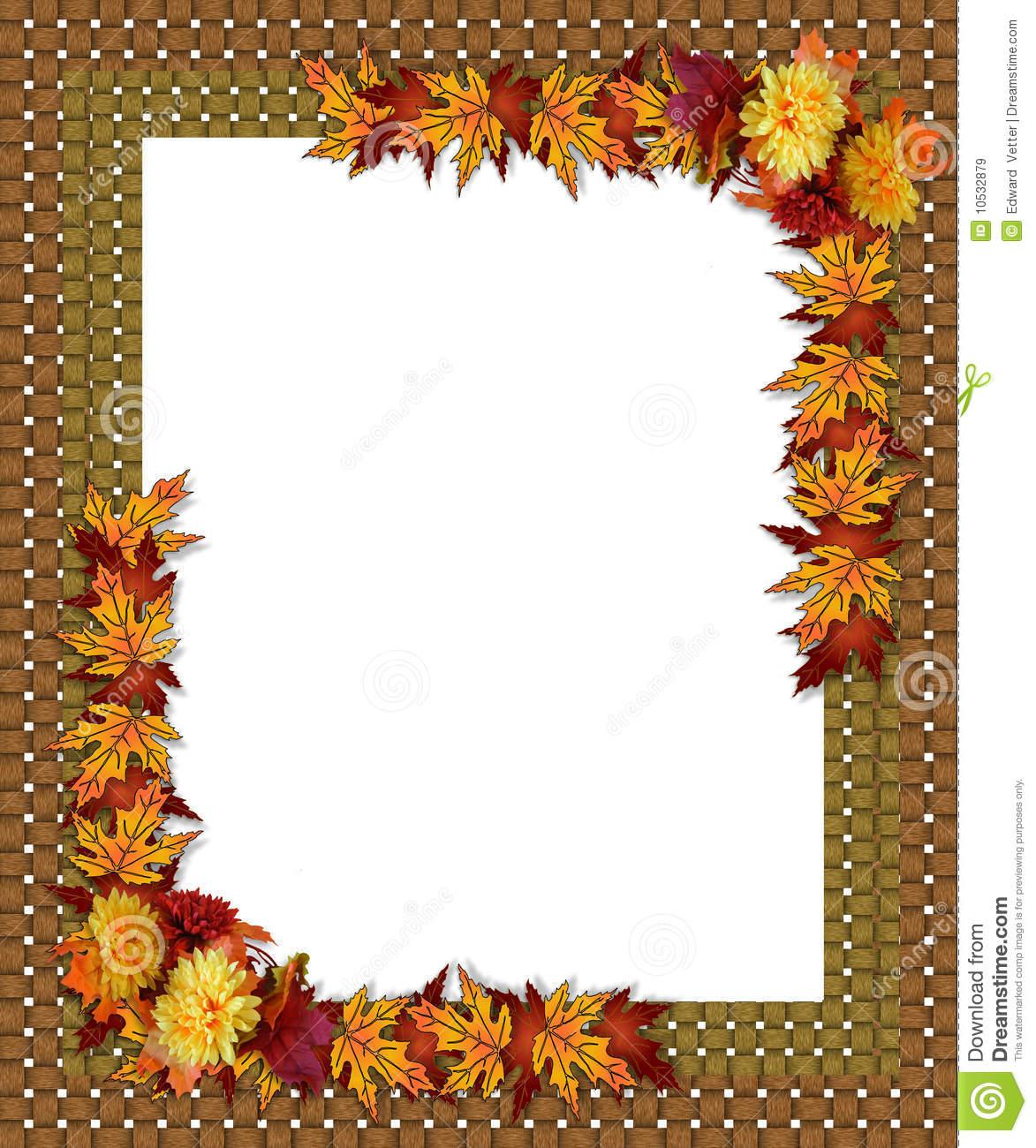 Thanksgiving clip art frame.