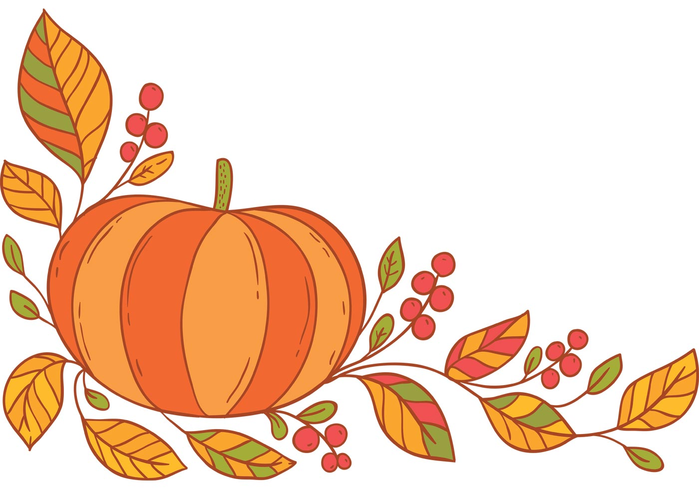 Thanksgiving border clipart free 4 » Clipart Station.