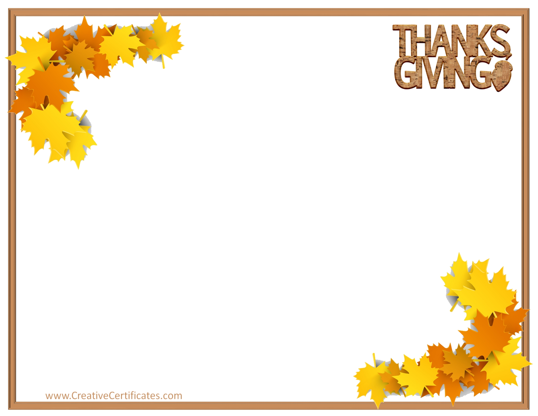 free thanksgiving borders for word.