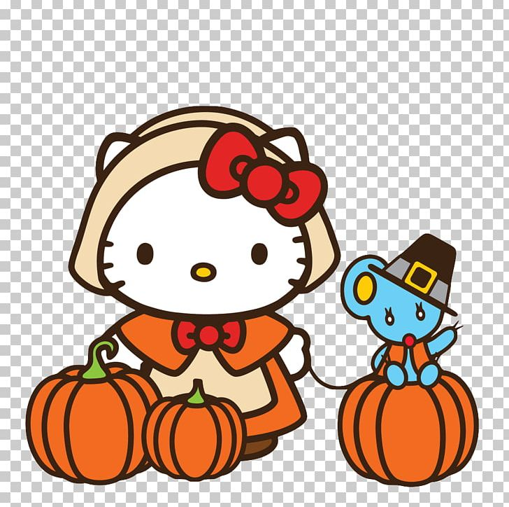 Hello Kitty Thanksgiving Cat PNG, Clipart, Artwork, Cat.