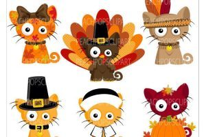 Thanksgiving cat clipart 6 » Clipart Portal.