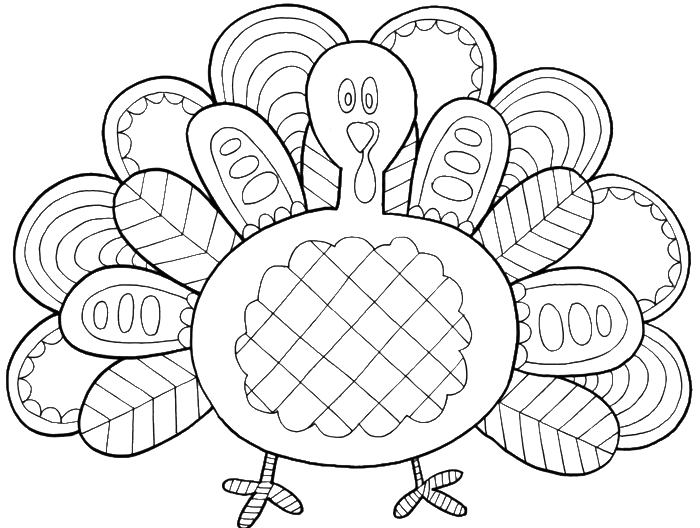 Turkey Feathers With A Very Unique Coloring Pages.