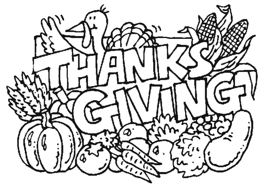 Free Printable Thanksgiving Coloring Pages.