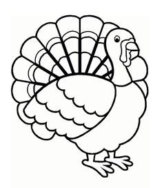 Fresh Turkey Clipart Coloring Pages.