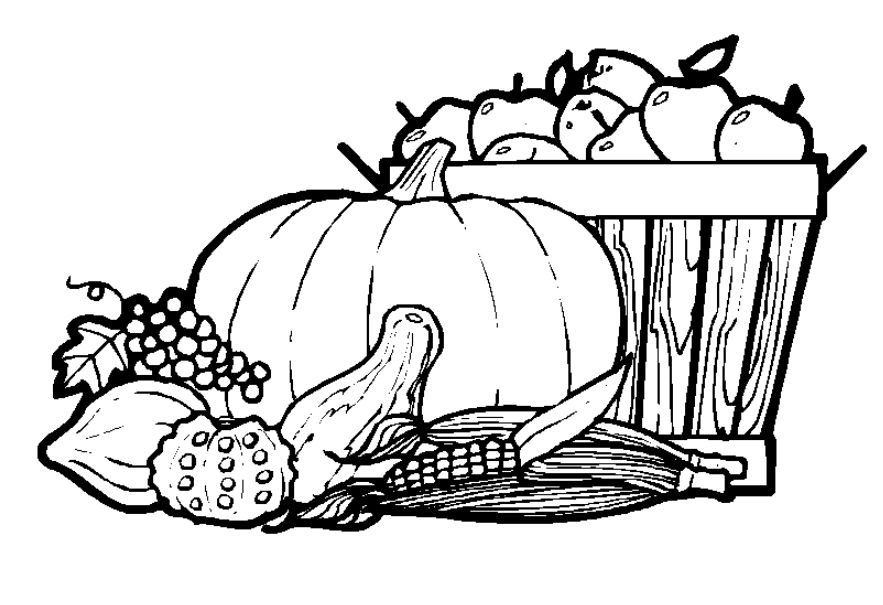 Free Thanksgiving Coloring Pages for Kids.