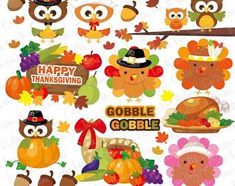 Cute thanksgiving cliparts.