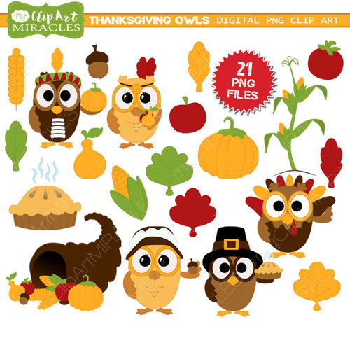 Cute thanksgiving cliparts.