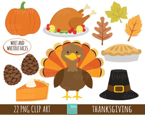50% SALE THANKSGIVING clipart, commercial use, turkey.