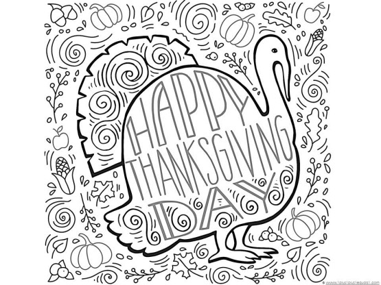 Free Printable Thanksgiving coloring pages 2019.
