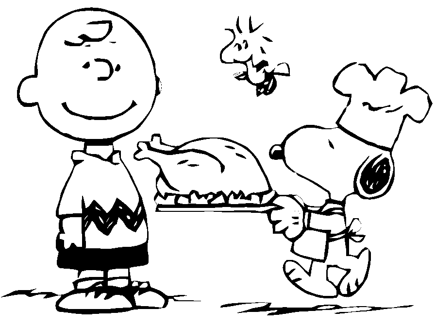 Thanksgiving Charlie Brown Coloring Page coloring page.
