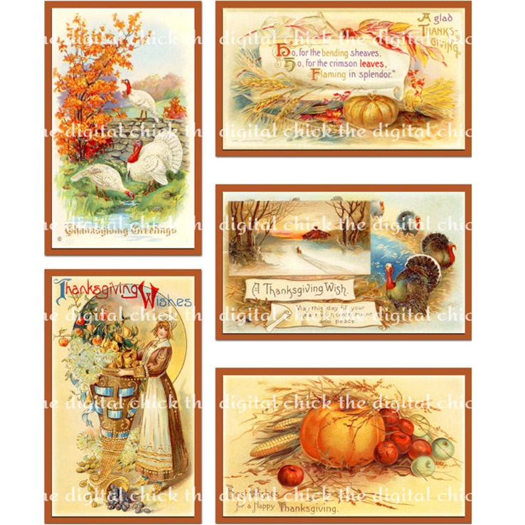 Vintage Victorian Thanksgiving Images.
