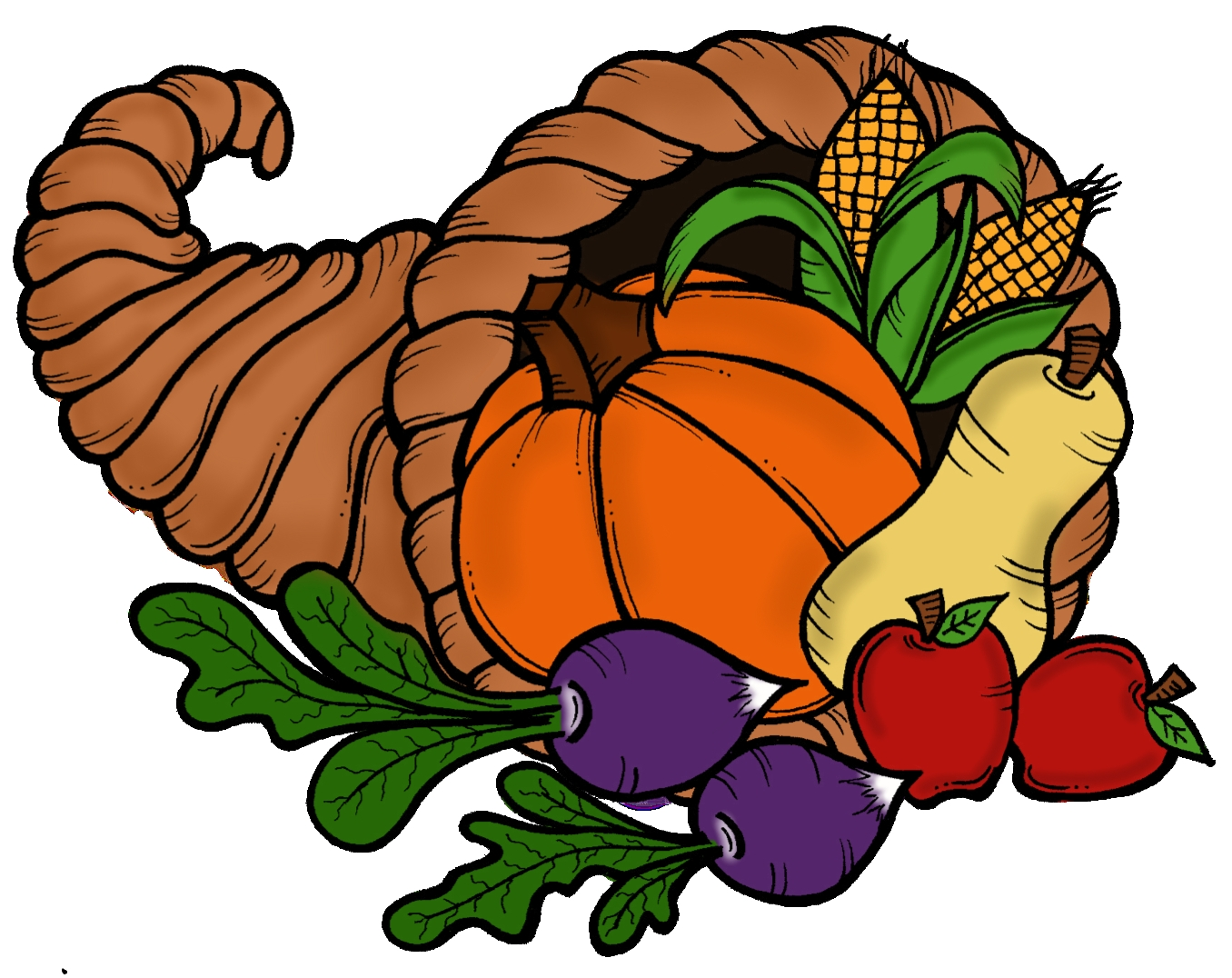 cornucopia clipart Best of Thanksgiving cornucopia clipart.