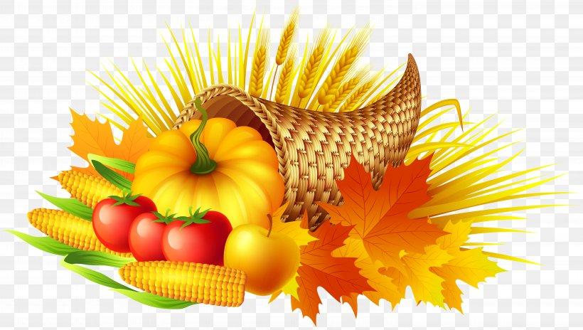 Thanksgiving Cornucopia Clip Art, PNG, 6000x3398px.