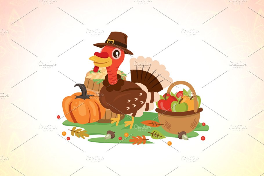 Thanksgiving Day Turkey clipart.