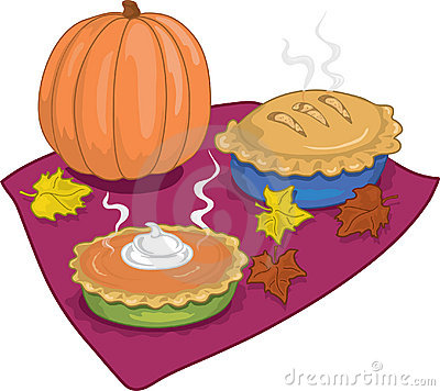 Thanksgiving Desserts Clipart.