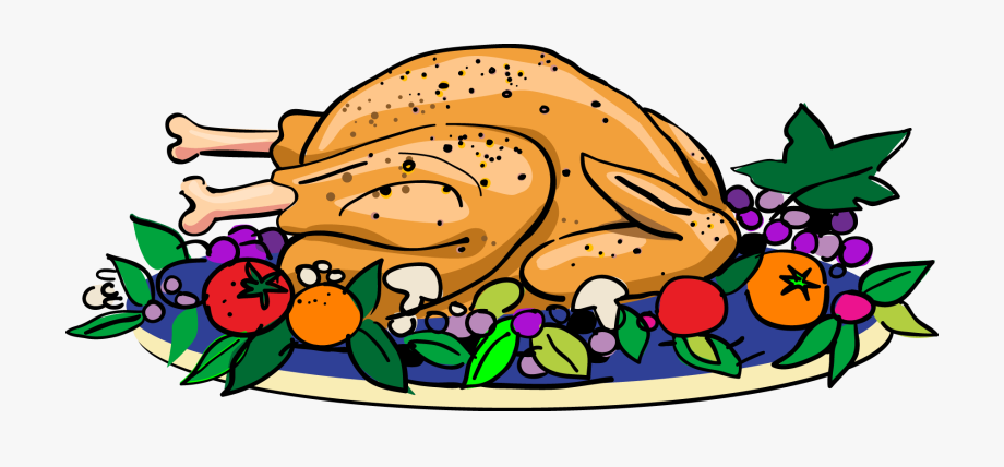 Thanksgiving Feast Food Plate Clipart.